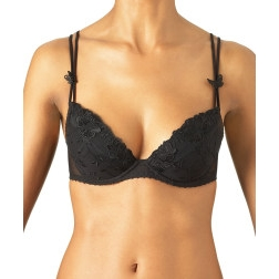 Fleurs de Pommier Plunge Bra by Aubade Paris - Color: Black