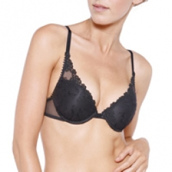 Passionata White Nights Push-up Bra - Colour: Black